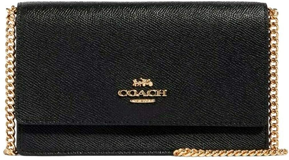 COACH Flap Belt Bag Swing Fanny Pack Crossbody Classic Leather Black F91678