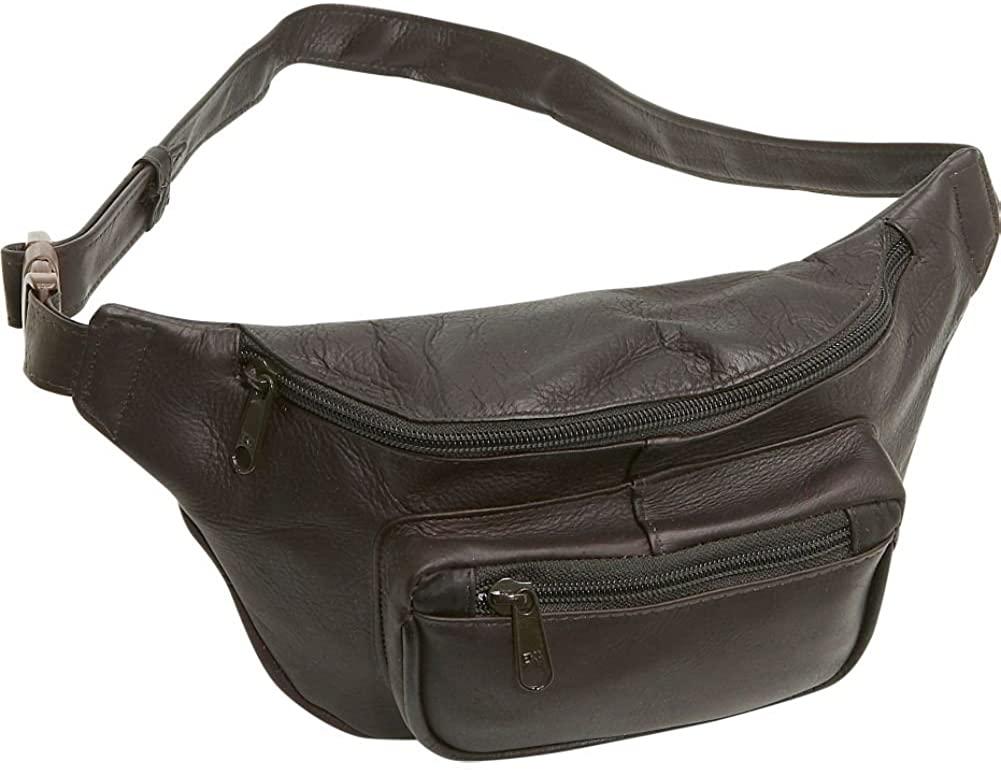 Le Donne Leather Adult's Waist Bag, Café