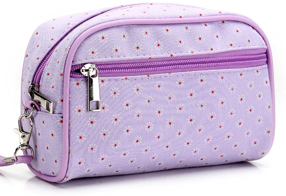 ANKUYER Portable Travel Pouch Toiletry Bag Cosmetic Makeup Pouch