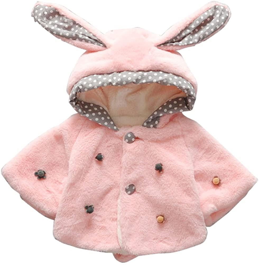ZAMME Girl Hoodies Coat Thick Tops Kids Fleeced Outerwear