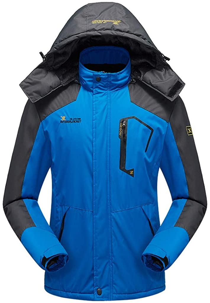 Pandaie Men's Ski Jacket Waterproof Winter Jacket Mountain Snow Jacket Windproof Hooded Windbreaker Outdoor Outwear