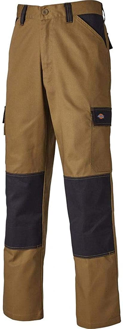 Rimi Hanger Mens Everyday Work Trousers Adult Durable Cargo Heavy Duty Work Trousers with Knee Pads Pocket Waist 36 Rugular Khaki/Black