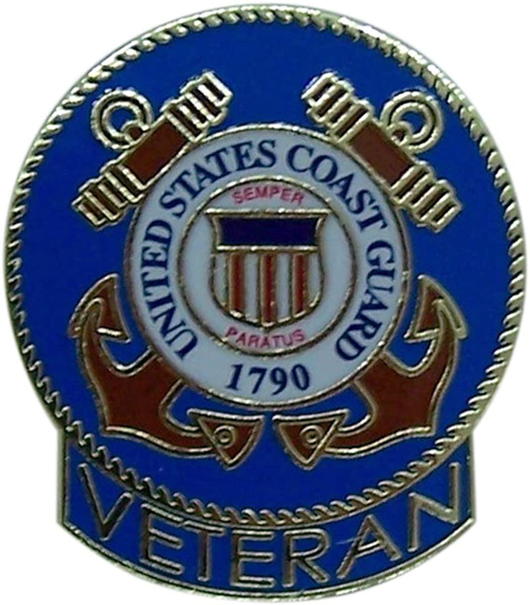 Wowser United States Coast Guard Veteran Lapel Pin, 1 Inch