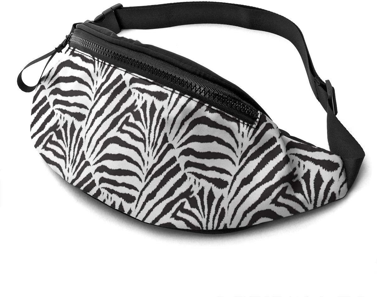 Black And White Zebra Pattern Fanny Pack Fashion Waist Bag