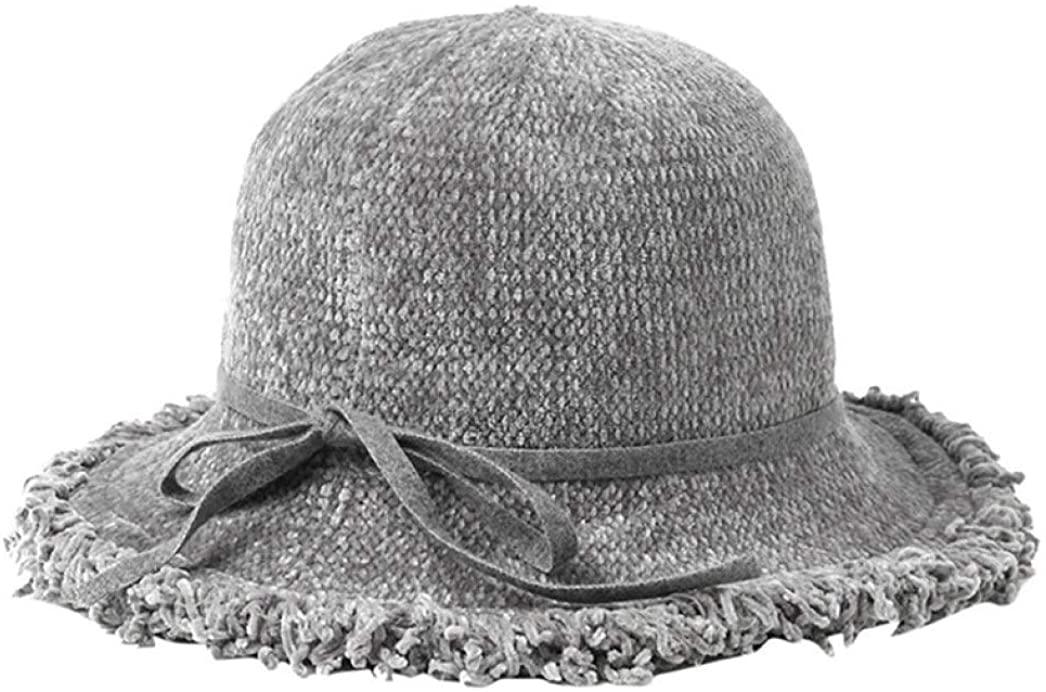 Elegant Winter Hats for Women Tassels Brim Design Fedora Hat Warm Foldable Casual Sun Cap
