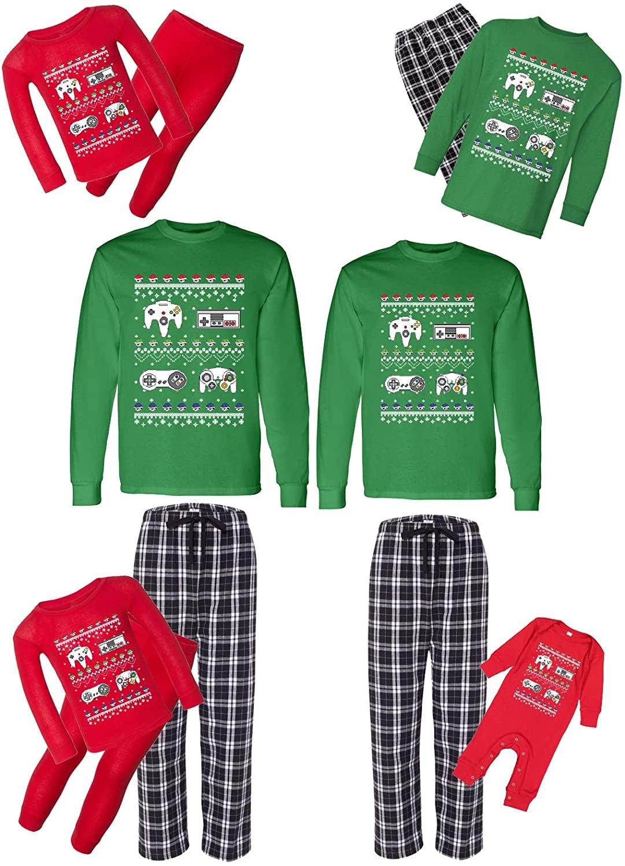 Awkward Styles Christmas Matching Pajamas Set Gamer Family Sleepwear