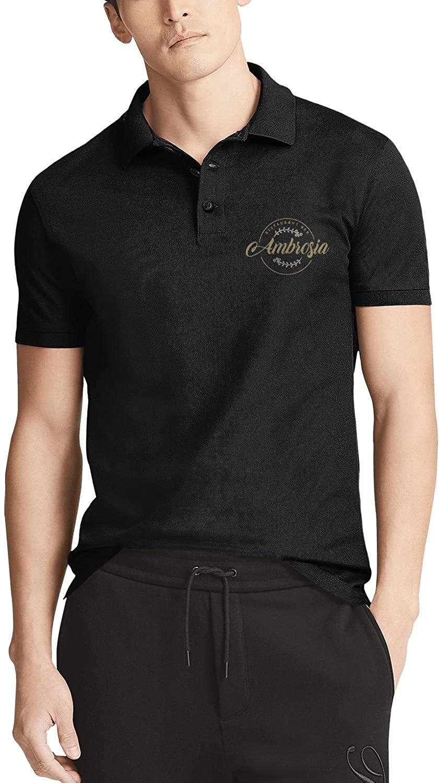 NINGBOY Men's Golf Polo Collared Shirts Graphic Ultra-Soft Cotton Summer Beach Softball Novelty Short Sleeve T-Shirt