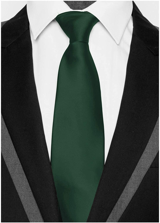 Wehug Mens Solid Color Ties Necktie 3.5 Tie Necktie Jacquard Neck Ties
