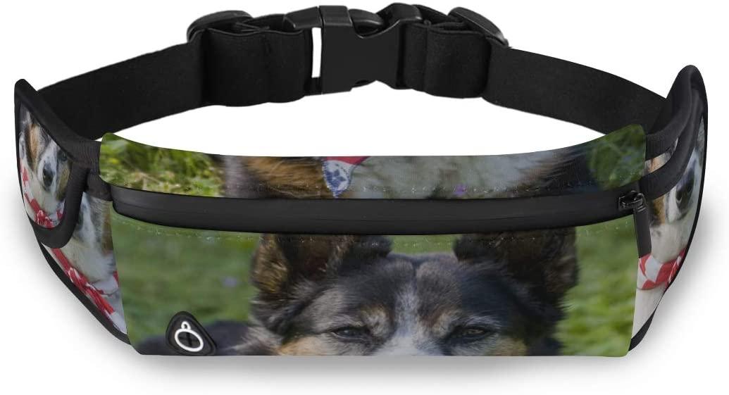 Heeler Mix Breed Dog Flag Bandanna Travel Fanny Pack Fashion Men Bag Waist Pack Kids With Adjustable Strap For Workout Traveling Running
