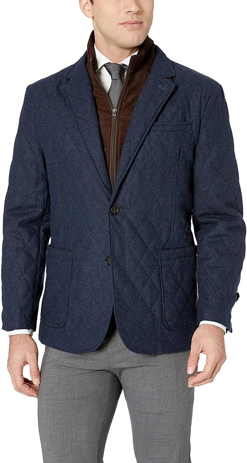 James Campbell Mens Hybrid Quilted Outerwear Jacket