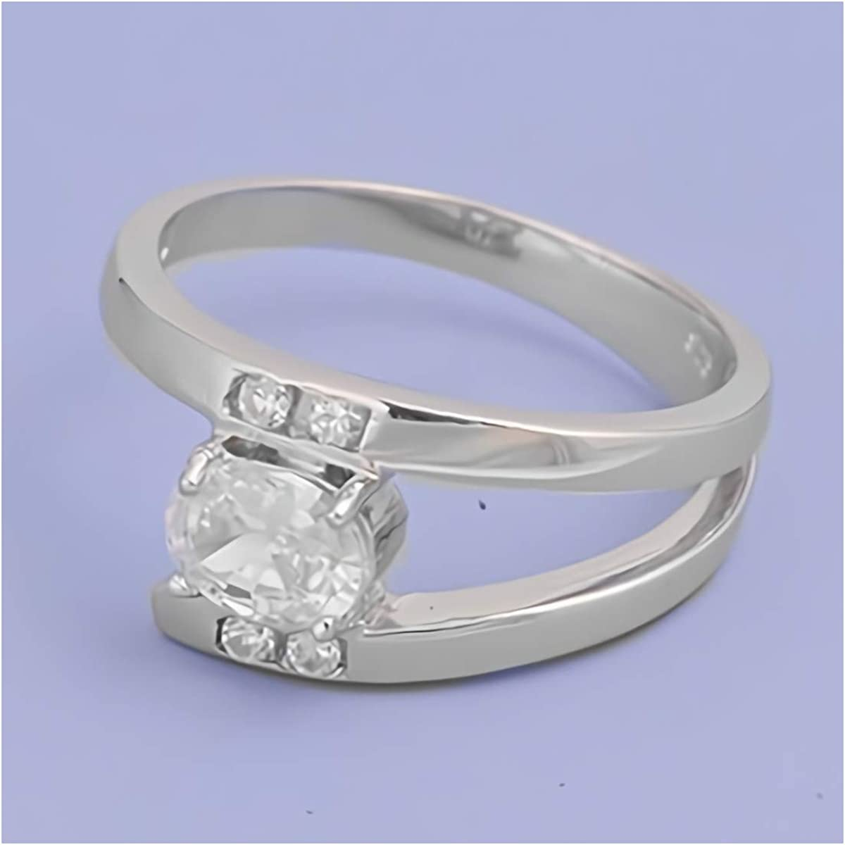 Glitzs Jewels 925 Sterling Silver CZ Ring | Cubic Zirconia Jewelry Gift