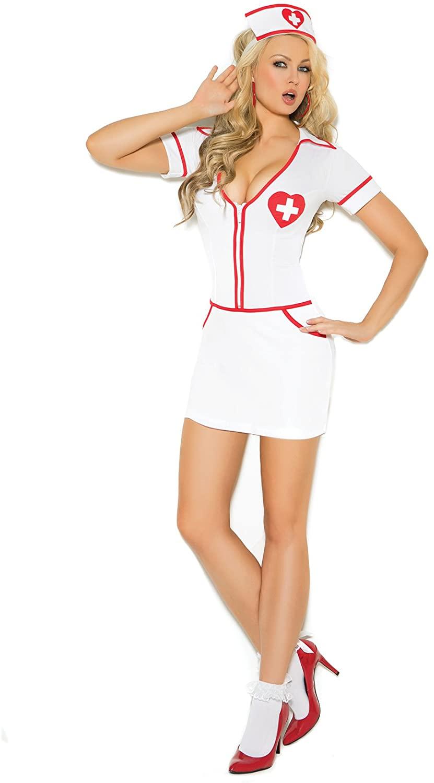 Women's Frisky Nurse Uniform Cosplay Costume Set