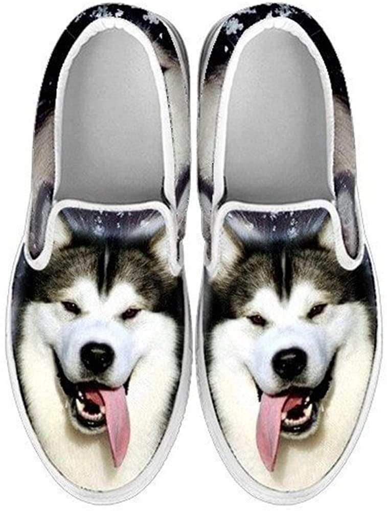 Pawlice Alaskan Malamute Dog Print Slip Ons Shoes for Kids (for Alaskan Malamute Dog Lovers)