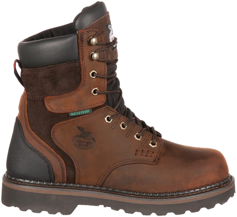 Georgia Men's Brookville Steel Toe Waterproof Work Boot-G9334 (M11) Dark Brown