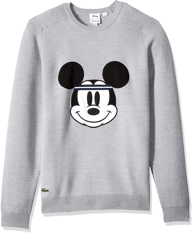 Lacoste Men's Long Sleeve Interlock Wool Mickey Crew Neck Sweater