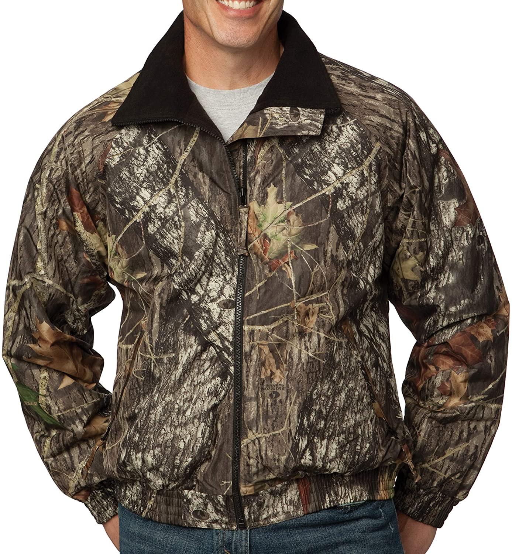 Upscale Mossy Oak Waterproof Camouflage Challenger Fleece Jacket - Mossy Oak/Black