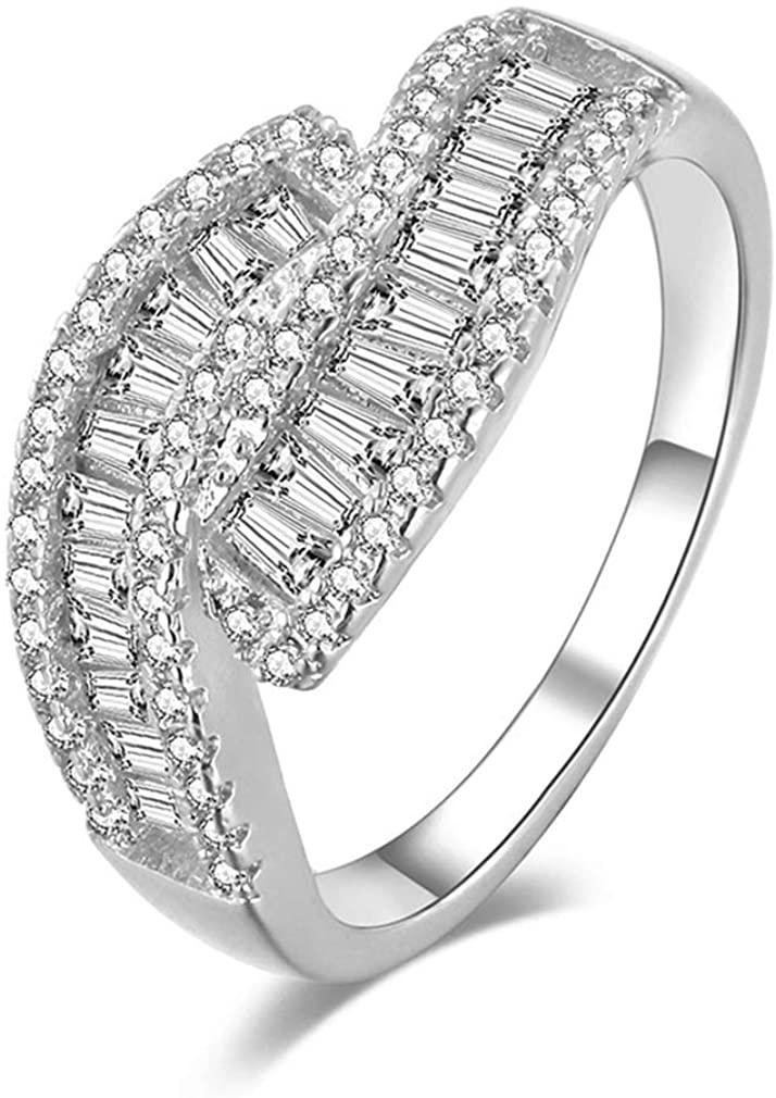 YAZILIND Wedding Rings Cubic Zirconia CZ Gemstone Eternity Engagement Band Ring