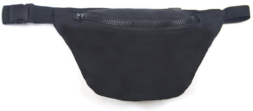 Black Nylon Bum Bag Waist Pack Fanny Pack