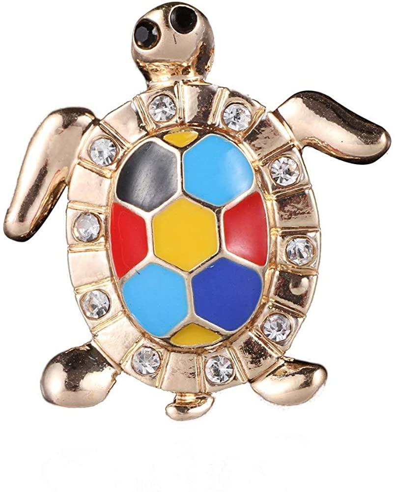 Colorful Enamel Sea Turtle Brooch Girls Shirt Collar Pin Unisex Lovely Animal Tortoise Pin