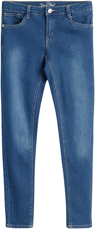 Real Love Girls' 5 Pocket Vintage Denim Skinny Jeans with Super Stretch Fabric
