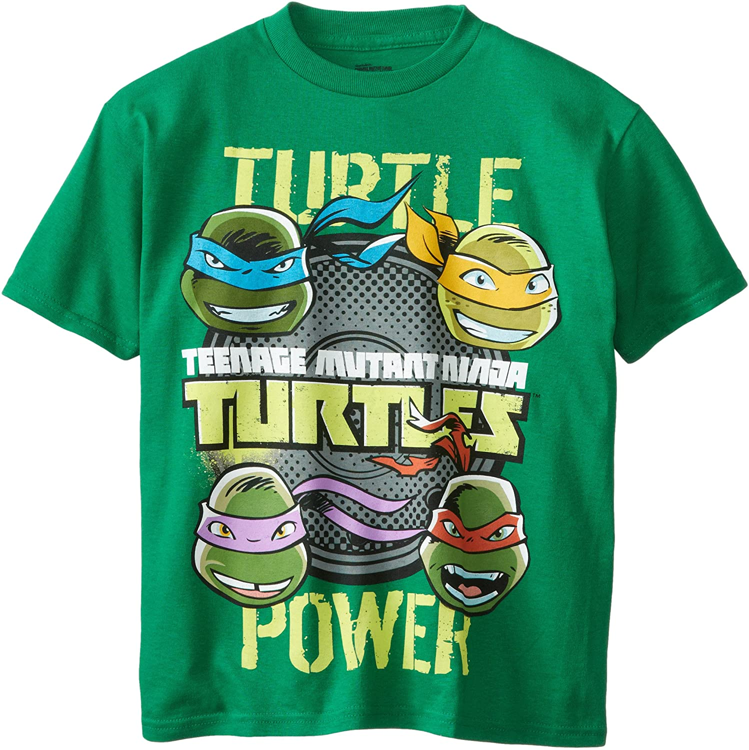 Teenage Mutant Ninja Turtles Big Boys' Short Sleeve T-Shirt Shirt, Kelly Green, X-Large/ 18