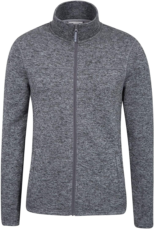 Mountain Warehouse Idris Mens Full Zip Fleece -Warm Winter Pullover