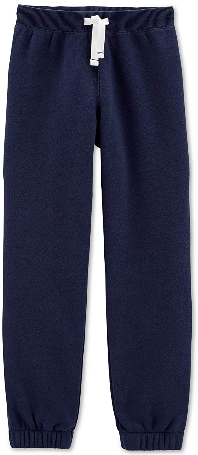 Carter's Big Boys Fleece Pants, Size 10, Navy
