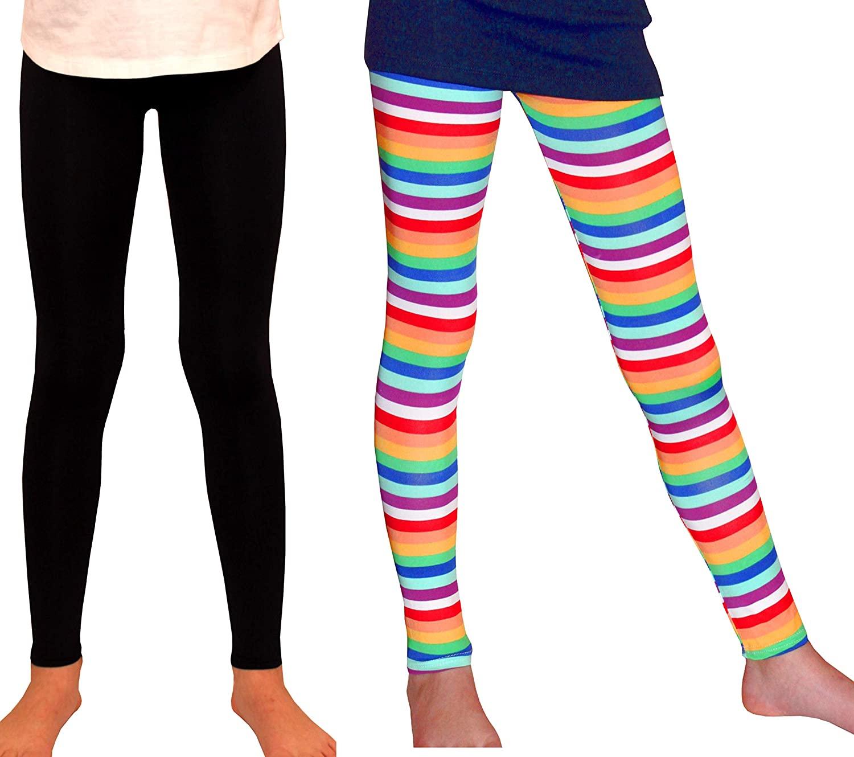Syleia Girl Leggings Bright Stripes