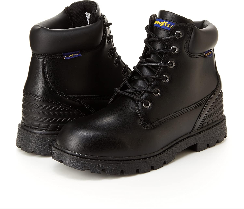 Goodyear Mens Maverick Steel Toe Boots,Black,10