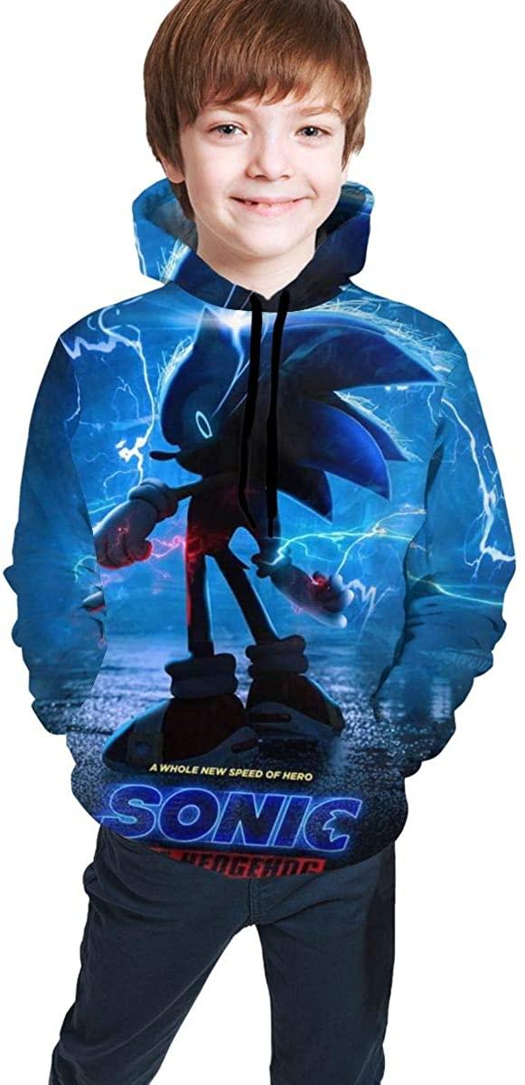 Kids Boys Girls Sonic The Hedgehog 3D Comfy Hoodies Winter Hooded Sweatshirt Pocket Top Novelty Hoodies