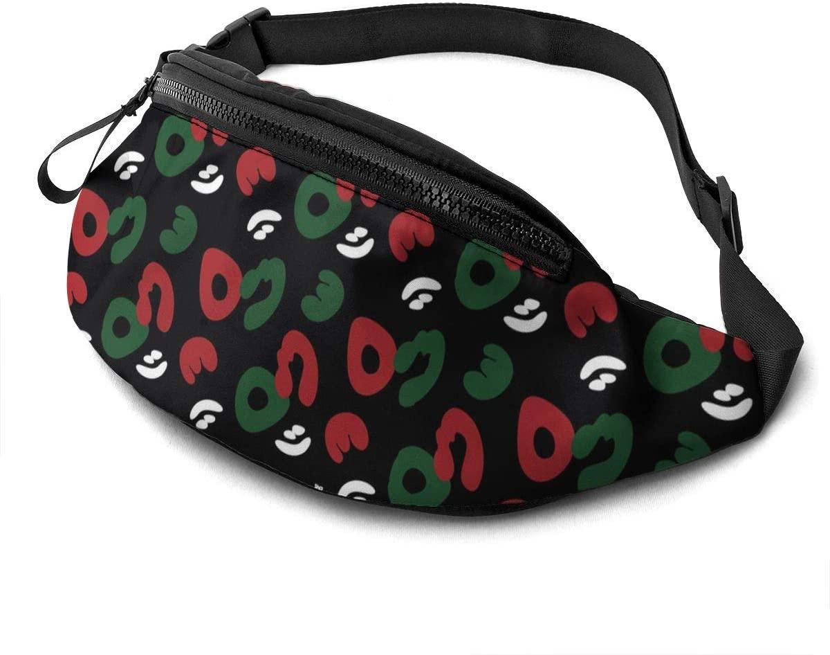 Red Camo Wallpaper Fanny Pack Fashion Waist Bag