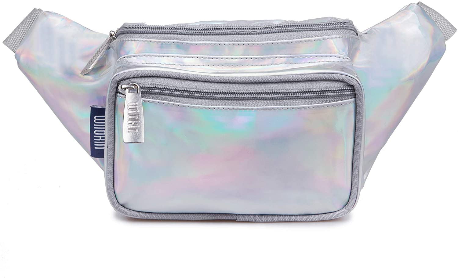 Wildkin Fanny Pack for Girls and Adults, Multifunctional and Spacious with Adjustable Belt, Perfect Size for Concert, Festival and Parades, Measures13.5 x 3 x 6 Inches, BPA-Free (Holographic)