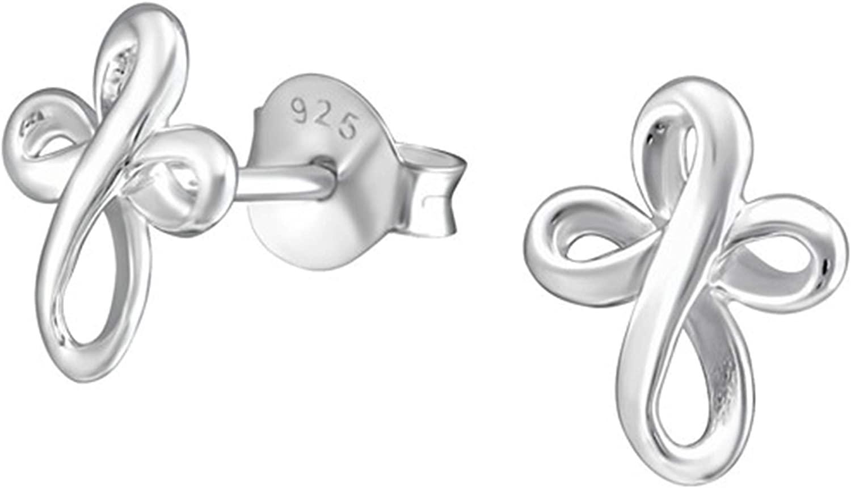 Hypoallergenic Sterling Silver Cross Tiny Stud Earrings (Nickel Free)