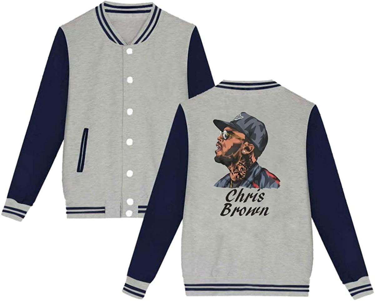 HUOOKFNH-losgusy Chris Brown Unisex Baseball Jacket Varsity Jacket