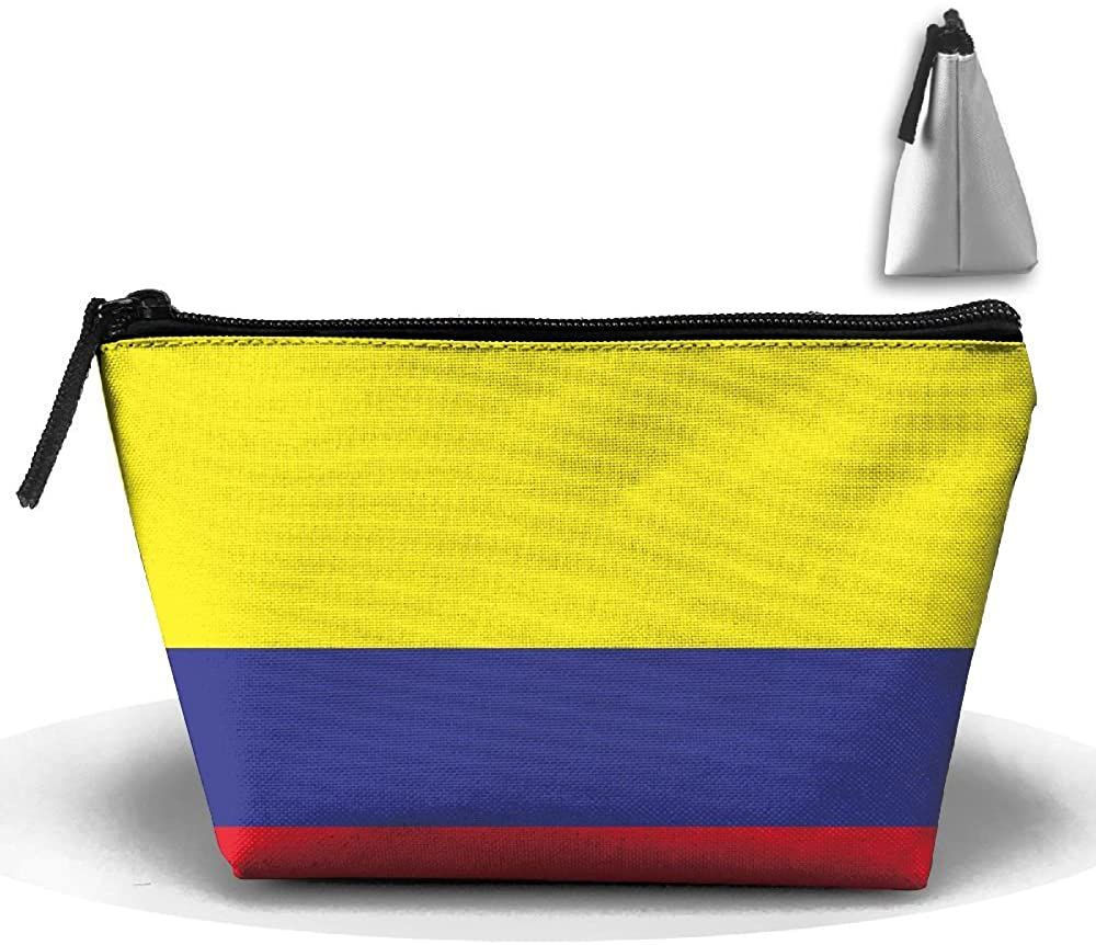 HTSS Columbia Flag Portable Makeup Receive Bag Storage Large Capacity Bags Hand Travel Wash Bag