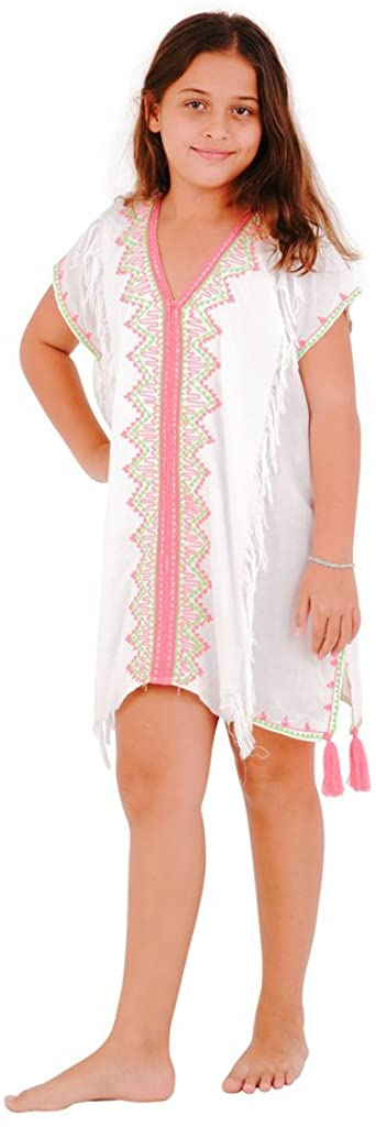 SHU-SHI Girls Swimwear Cover Ups Tunic Dress Coverup Short Kaftan Beach Dresses Kids Toddlers