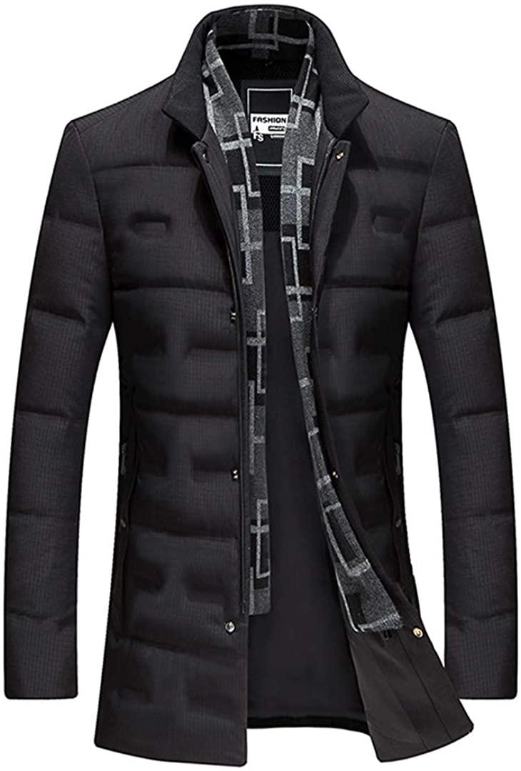 All-Ketonris Mens Winter 80% White Duck Down Jacket Coat Plus-Size