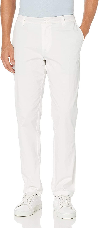 A|X Armani Exchange Men's White Core Stretch Twill Chino Pant Slim Fit