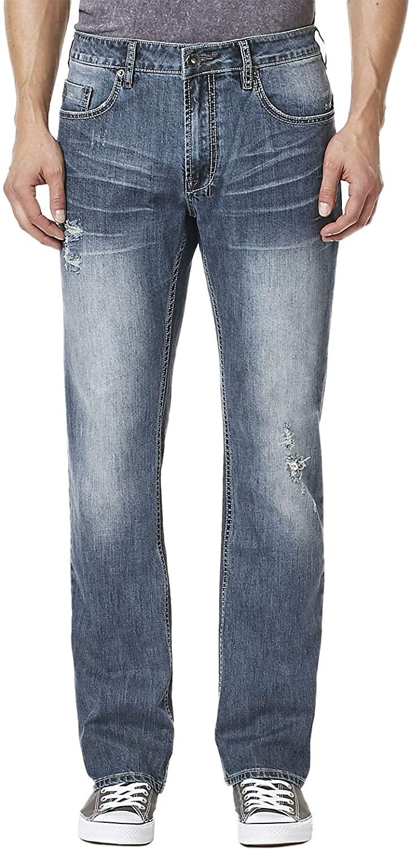 Buffalo David Bitton Men's Evan-x Slim Straight Fit Stretch Fashion Denim Pant