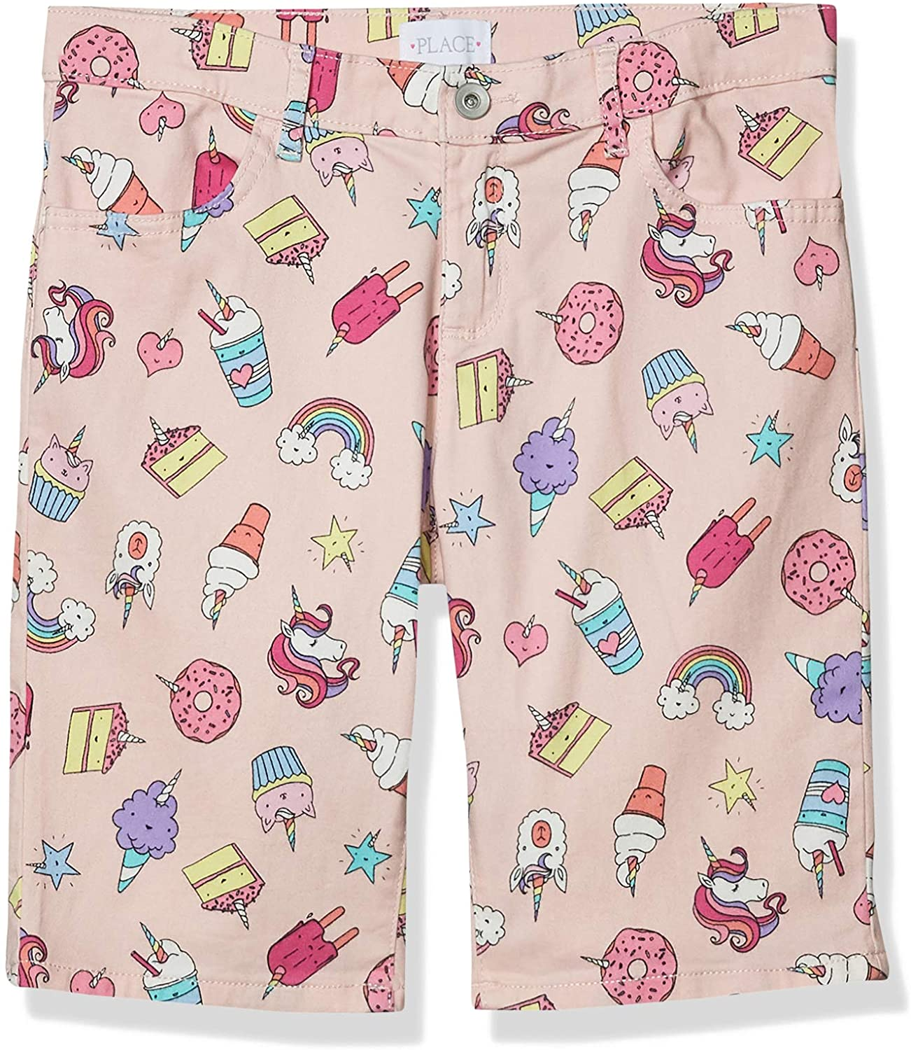 The Children's Place Girls' Plus Printed Skimmer Shorts