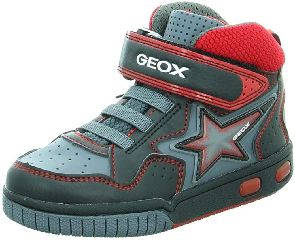 Geox Boys' Jr Gregg a Hi-Top Trainers, Blue