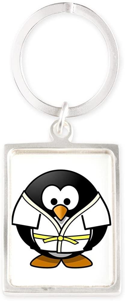 Portrait Keychain Little Round Penguin - Martial Arts Karate Judo