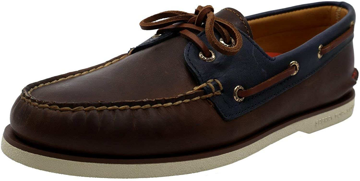 Sperry STS19297: Mens Gold Cup A/O Fairhaven Brown/Navy Boat Shoes (10 D(M) US Men)