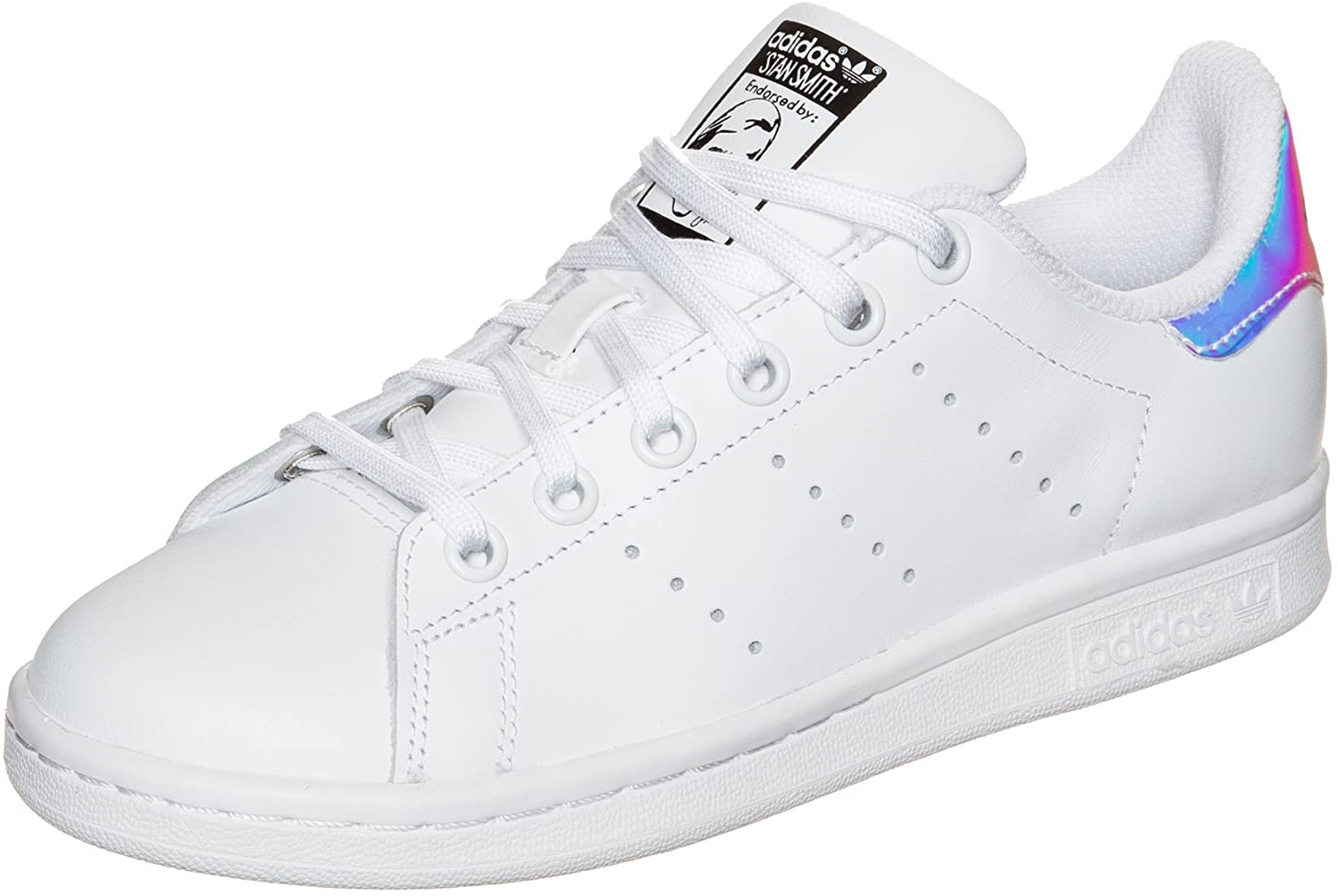 adidas - Stan Smith J - AQ6272 - Color: White - Size: 5.5 Big Kid