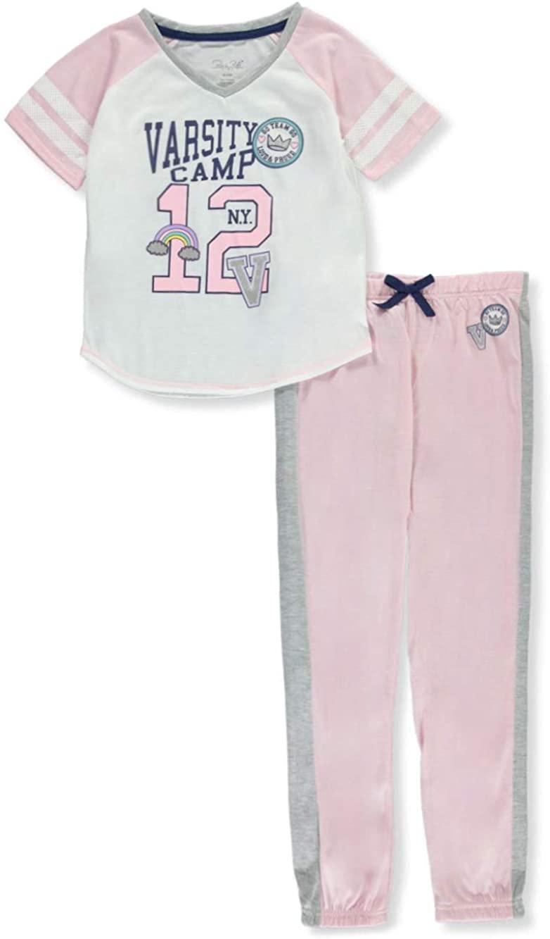 Rene ROFE Girls' Varsity Camp 2-Piece Pajamas