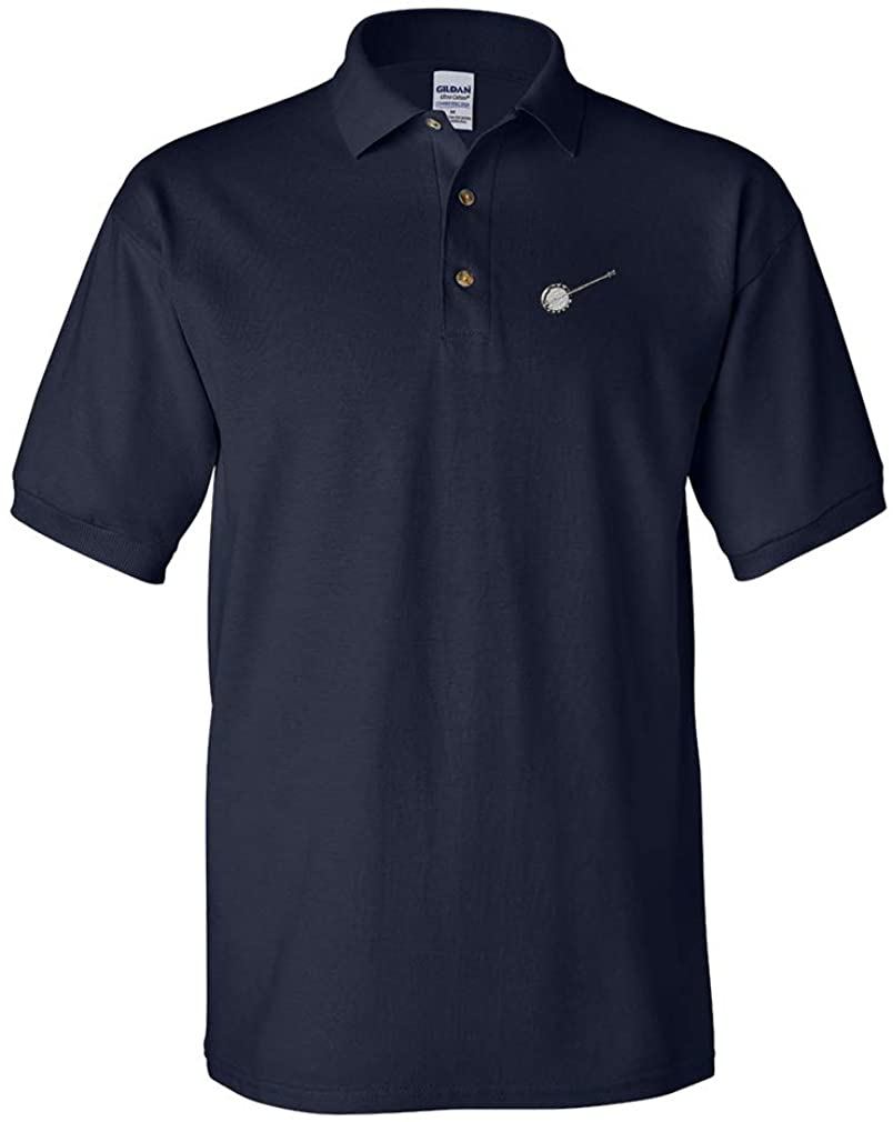 Custom Polo Shirt Banjo Embroidery Design Cotton Golf Shirt for Men