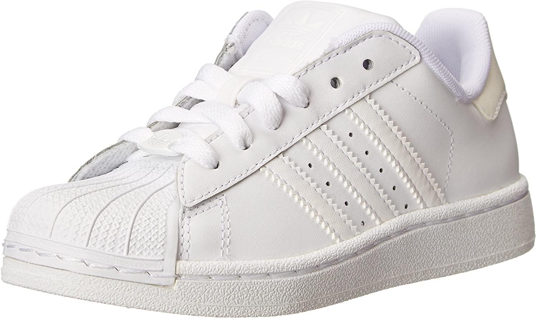 adidas Originals Superstar II Sneaker (Little Kid/Big Kid),White/White/White,2 M US Little Kid