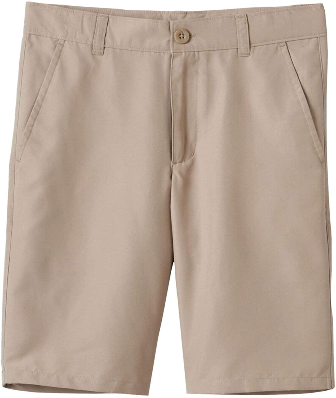 Chaps Boys Khaki School Uniform Performance Adjustable Waistband Shorts 12