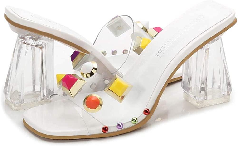 Transparent High Heels Open Toe Ms Sandals Flip Flop