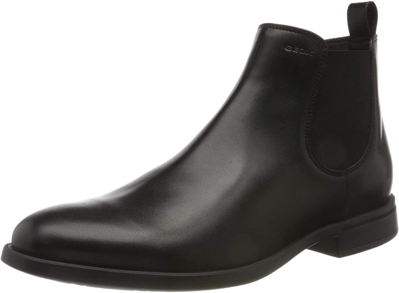 Geox Men's Chelsea Boot, Black, 8 US